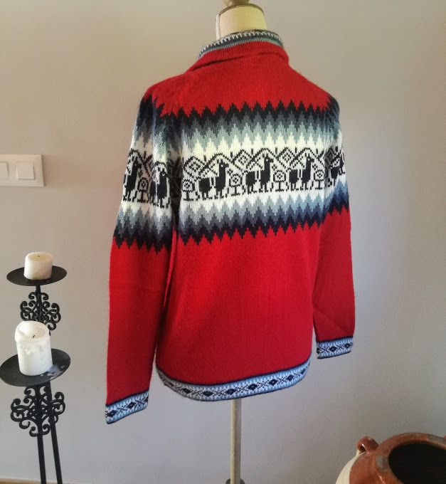 red alpaca sweaters womens